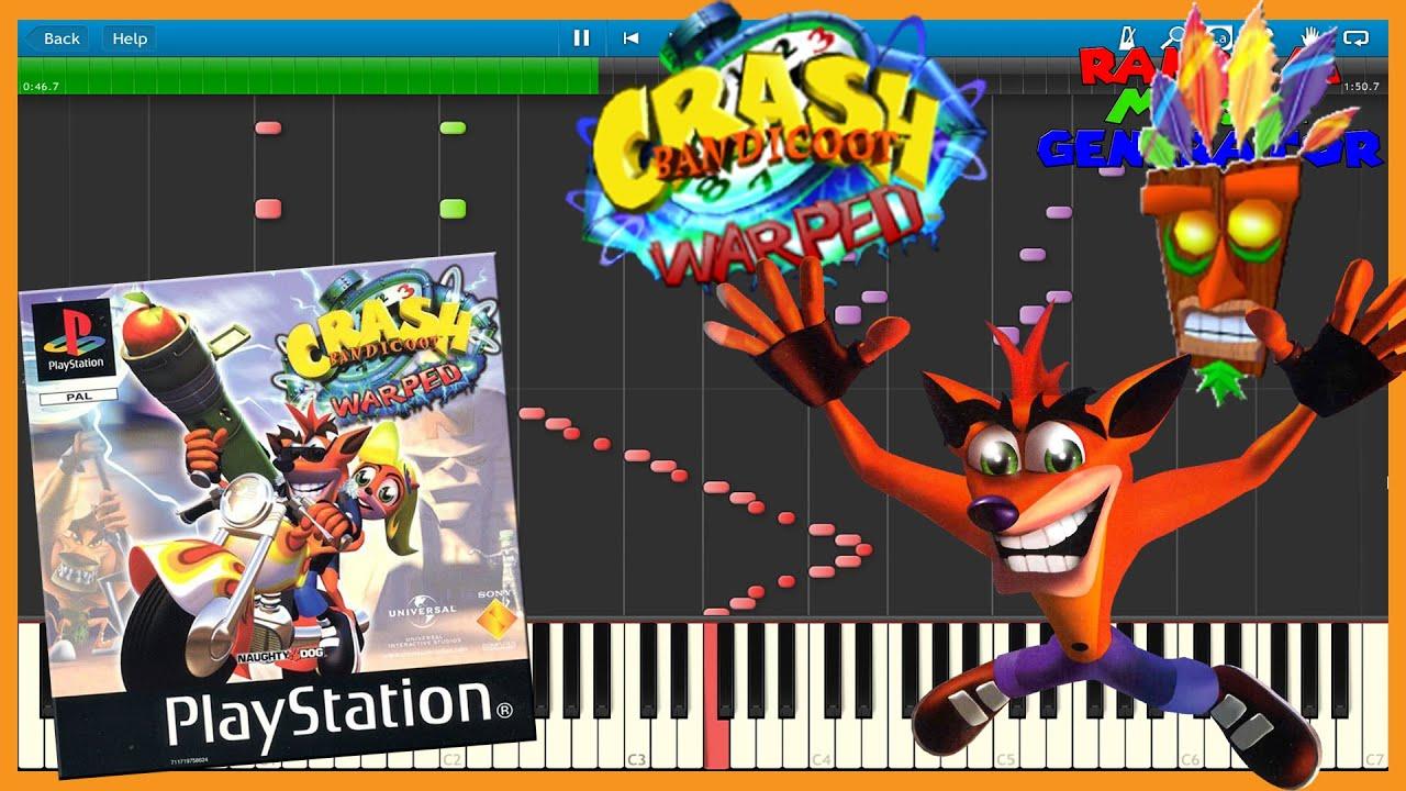 Crash Bandicoot  Warp Room Music Synthesia