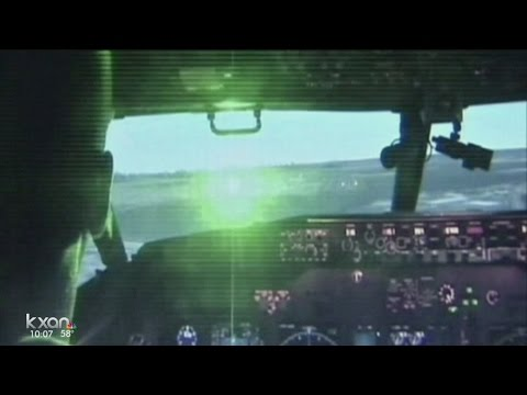 Laser plane incidents at Texas airport