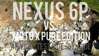 Moto X Pure Edition vs. Nexus 6P 4K video Side by Side Test Comparison