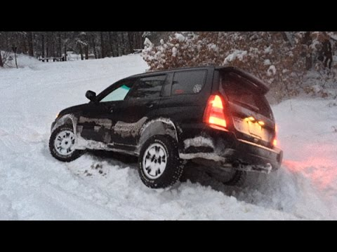 All Terrain Tires >> Subaru Forester Off Road - Snow Hooning January 2015 - YouTube