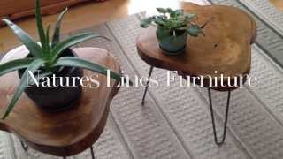 Live Edge End Table Set By Mccue Brothers