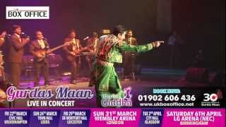 GURDAS MAAN - ISHQ DA GIDDHA UK TOUR 2013 - NEW