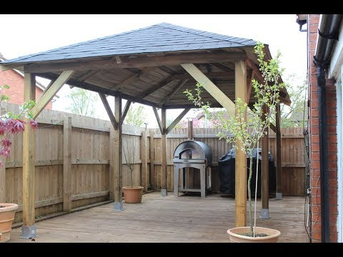 How to build a wooden gazebo over hot tub you won 39 t for Average cost to build a pavilion