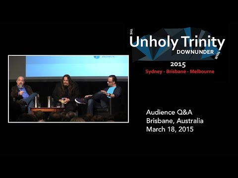 Unholy Trinity Down Under: Q&A Brisbane