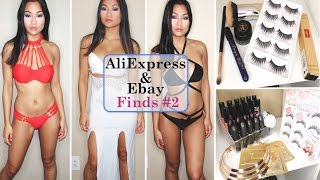 ALIEXPRESS & EBAY TRY ON HAUL #2 | YSL, DIOR, Anastasia, Bikinis, Clothing |