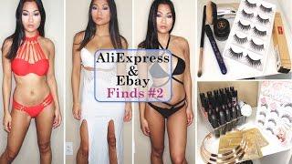 ALIEXPRESS & EBAY TRY ON HAUL #2 | YSL, DIOR, Anastasia, Bikinis, Clothing |