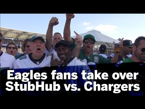 Eagles Fans Take Over StubHub At Chargers Game   San Diego Union-Tribune