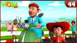 New Cartoon Show   Chacha Bhatija   Wow Kidz   Hindi Cartoons For Kids   Scooter Race