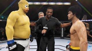 Bruce Lee vs. Homer Simpson (EA Sports UFC 2) - CPU vs. CPU