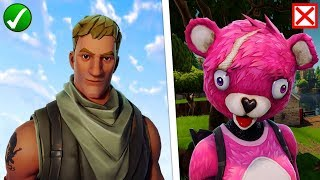 DARUM you should PLAY WITHOUT SKIN! - Fortnite Battle Royale (English)