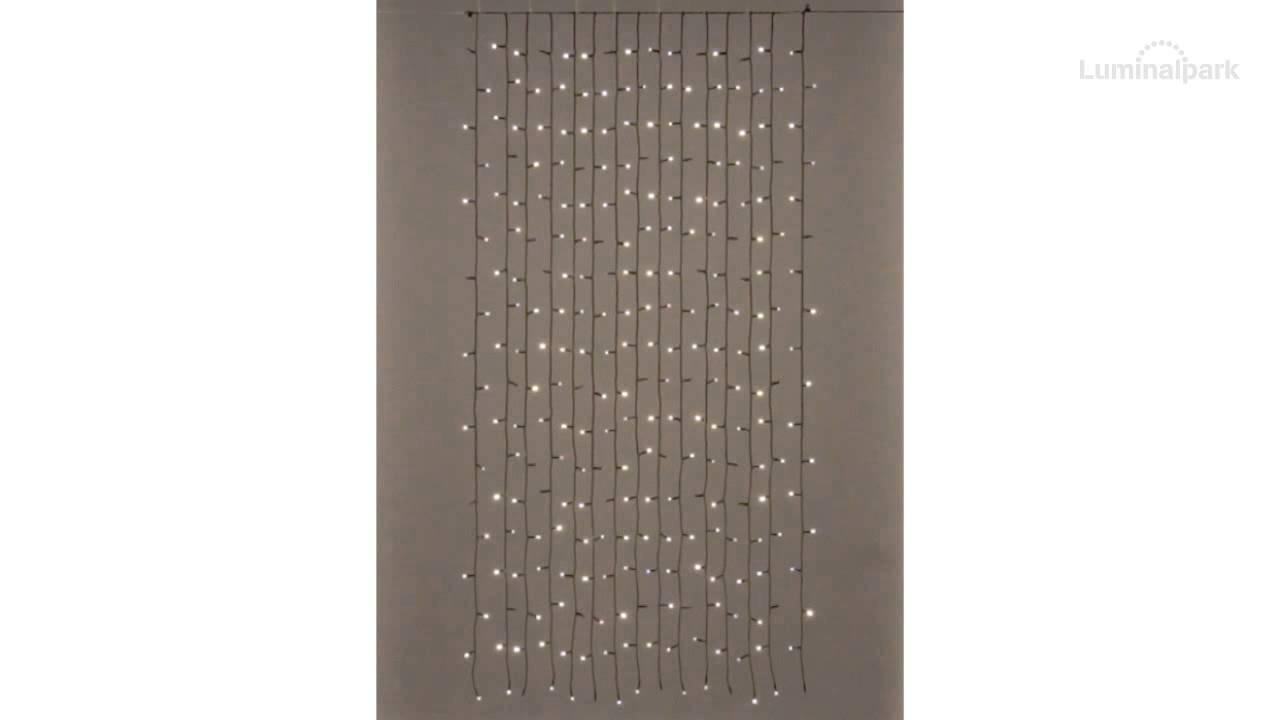 rideau pour sapin de no l de 210 240 cm 270 led blanc chaud code 23185 youtube. Black Bedroom Furniture Sets. Home Design Ideas