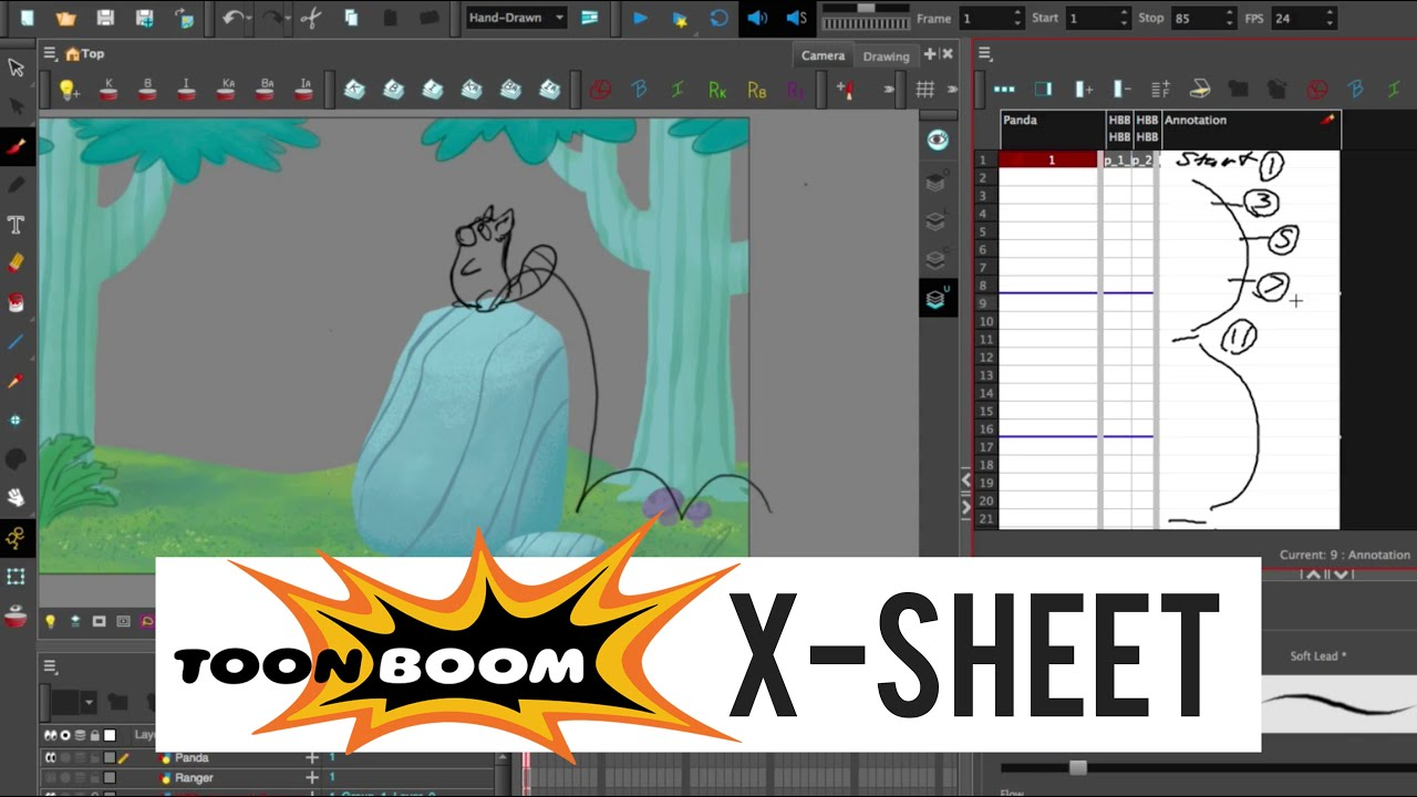 x sheet toon boom harony how to draw