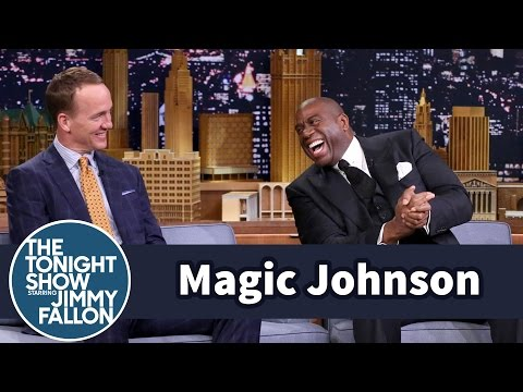 Magic Johnson Pressures Peyton Manning to Join the L.A. Rams
