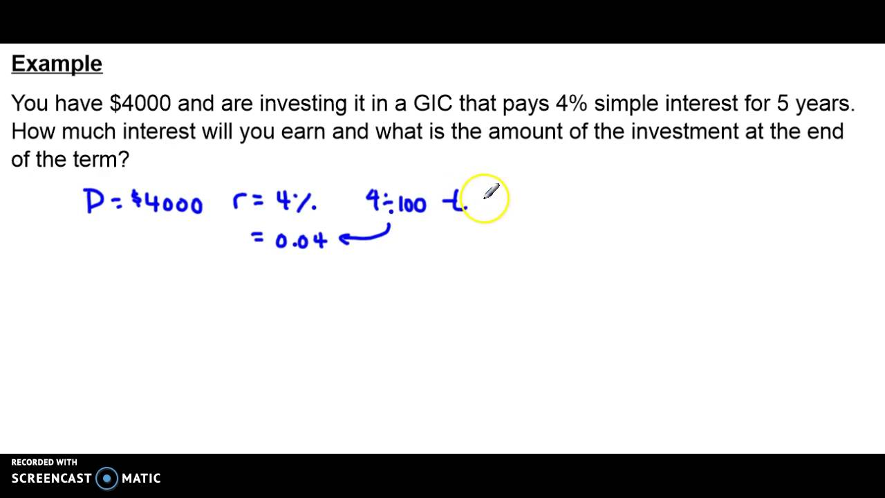 simple interest example solution simple interest example solution