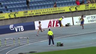 2014 Asian Junior Athletics Championships Final Women 400mH