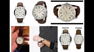 New Fossil FS4735 Grant Brown Leather Watch Prices Reviews