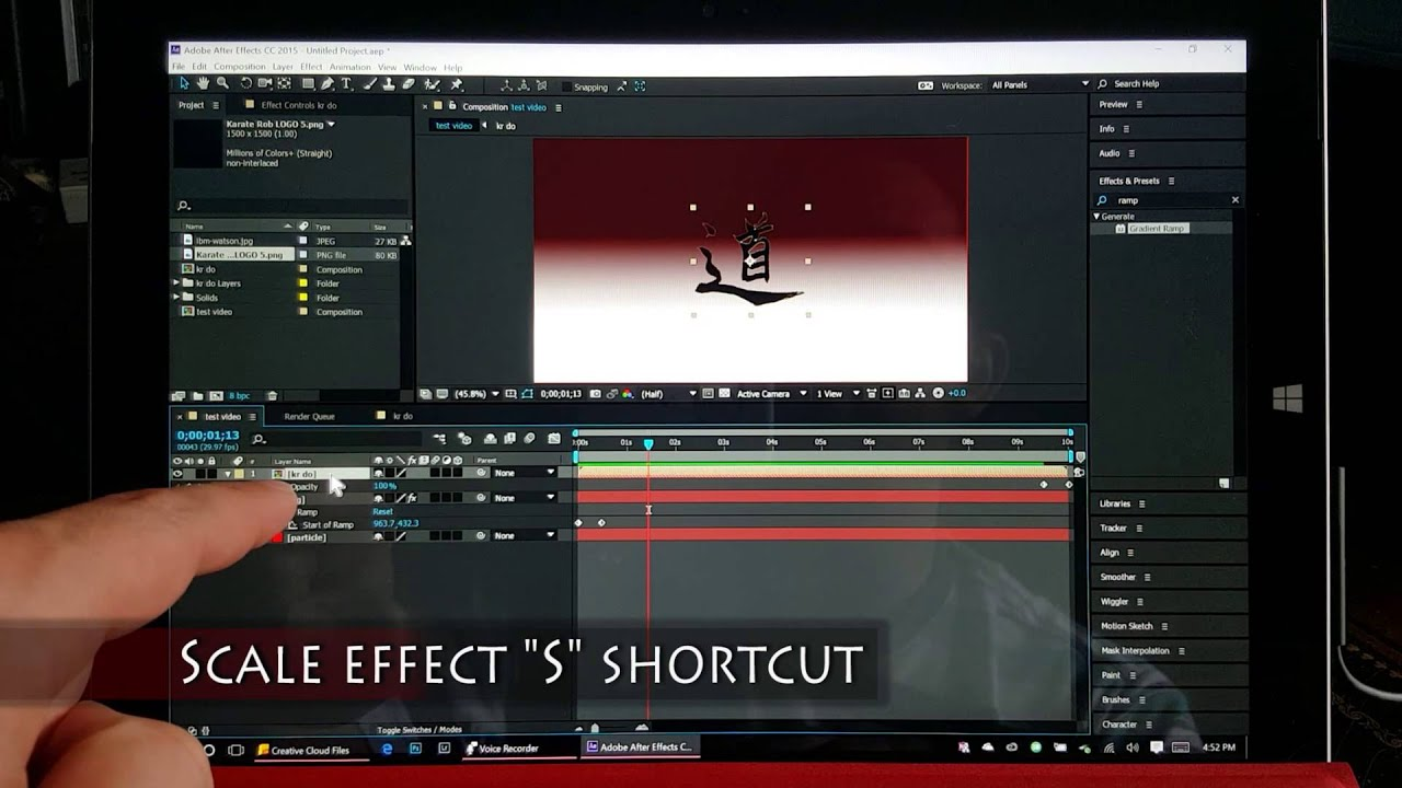 After Effects on Surface Pro 3: Creating a Motion Graphic Intro
