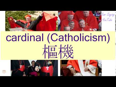 """CARDINAL (CATHOLICISM)"" in Cantonese (樞機) - Flashcard"