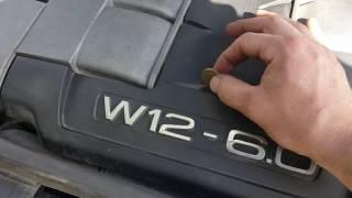 Ауди А8 D3 6.0W12 BHT. Запуск с монеткой