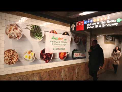 Fresh Direct | Station Domination Campaign