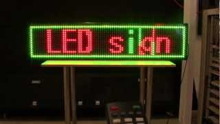 How to program your LED Sign - 3 Color Scrolling Programmable Message Board