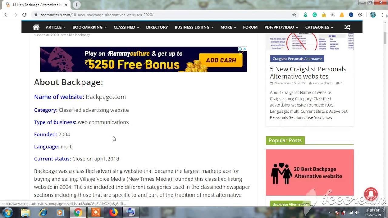 sites like backpage 2020 | backpage alternative