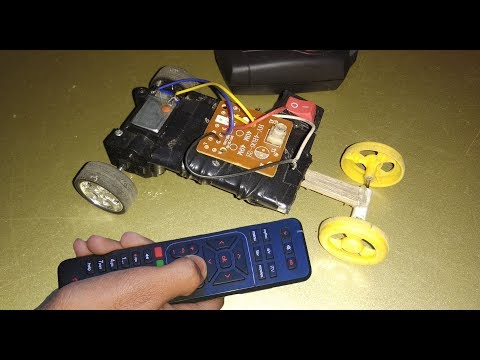 how to make rc remote control car at home - YouTube
