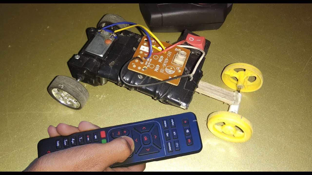 how to make rc remote control car at home