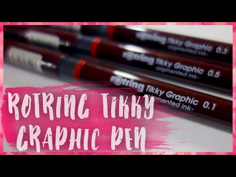 Rotring Tikky Graphic Technical Pen | Inktober Art Supply Review + Speedpaint