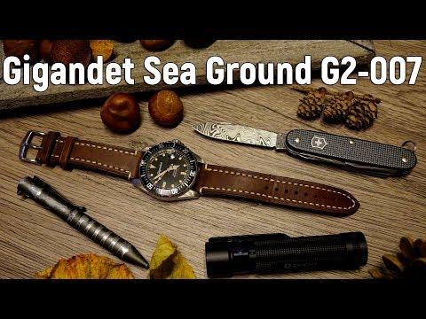 Gigandet Sea Ground G2-007 im Rolex Submariner Vintage Style | Seiko NH35 | Diverwatch | Taucheruhr