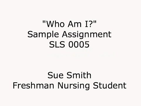 Who Am I Sample Assignment