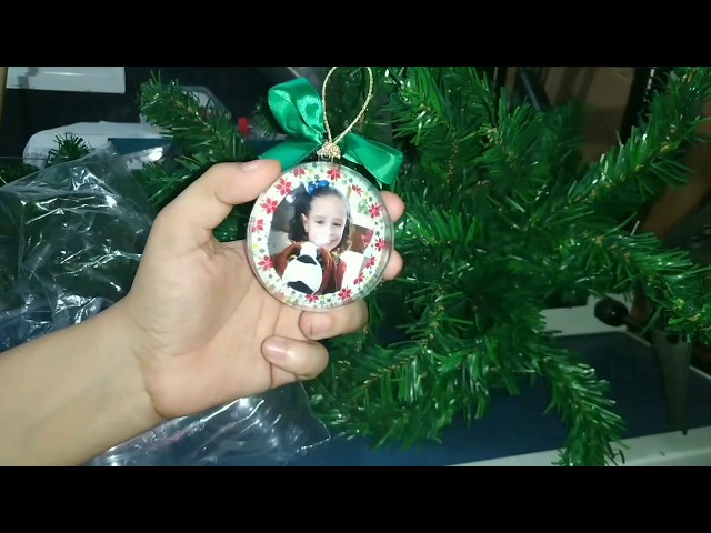 Bola de acrílico para Natal comprada no Mercado Livre