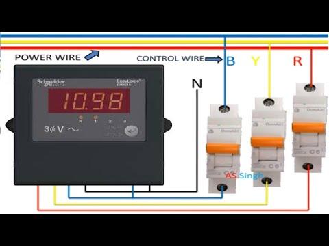 Voltmeter Wiring Diagram 3 Phase Digital Voltmeter Wiring Diagram Youtube