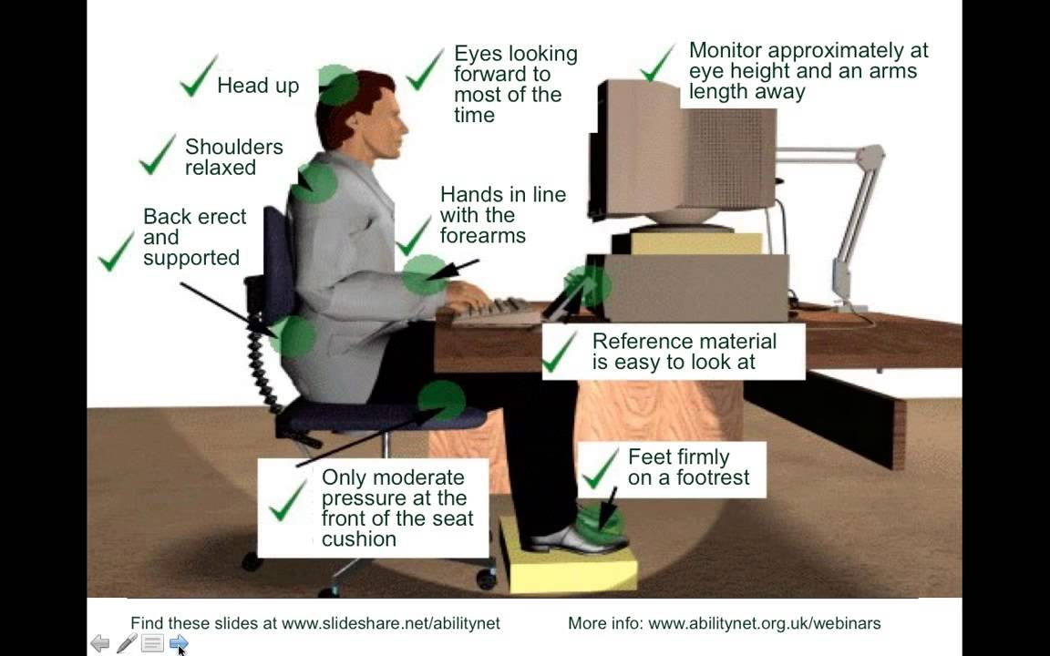 computer ergonomics in the work place Check out this post on the ergonomics of the workplace ergonomics of the office and workplace: an overview office or computer ergonomics can help to.