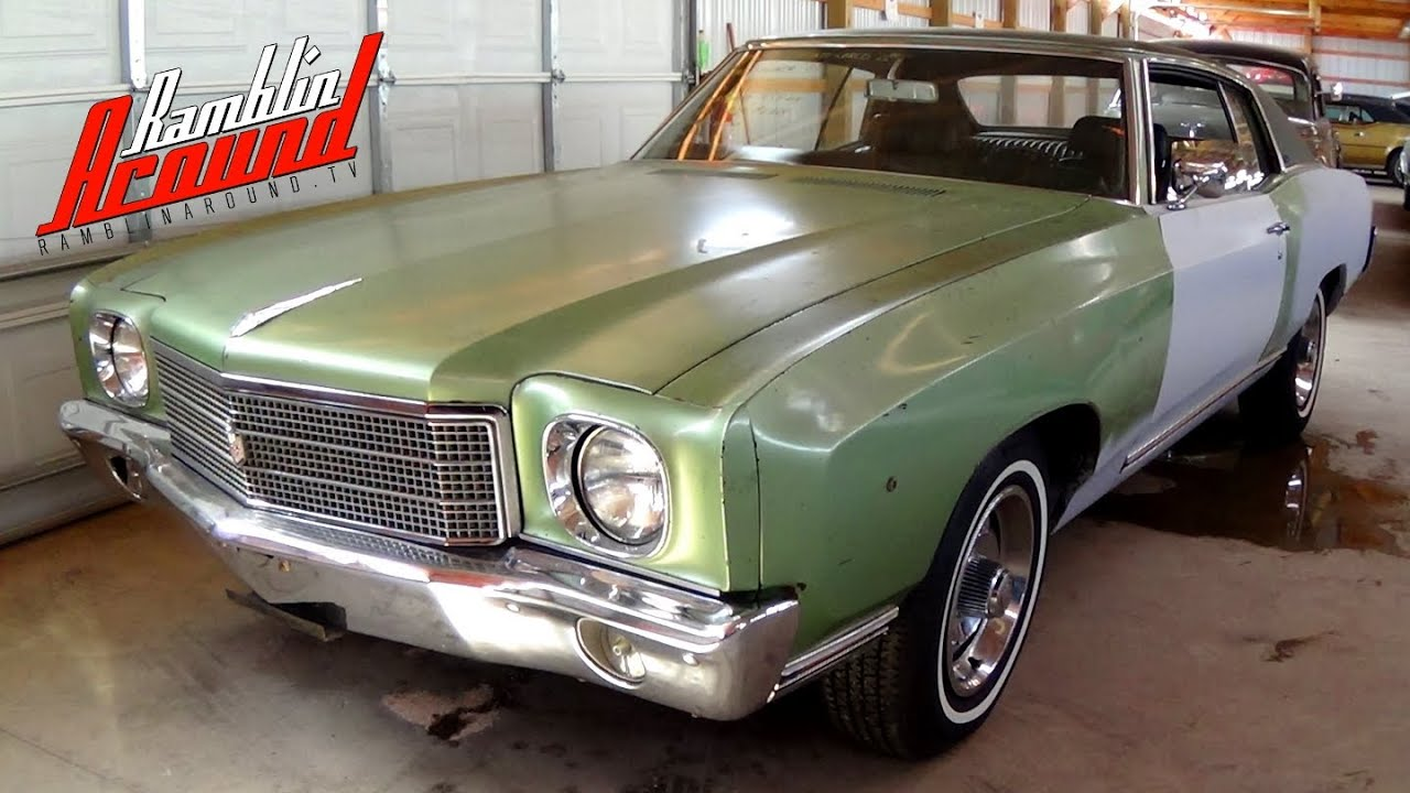 1970 Chevrolet Monte Carlo 454 Big-Block V8 Numbers Matching