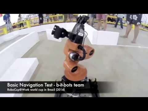 Basic Navigation Test (Onboard view) - RoboCup@Work - World Cup 2014 - Brazil