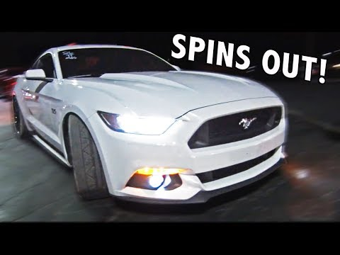 Mustang SPINS OUT Street Racing at 100mph!