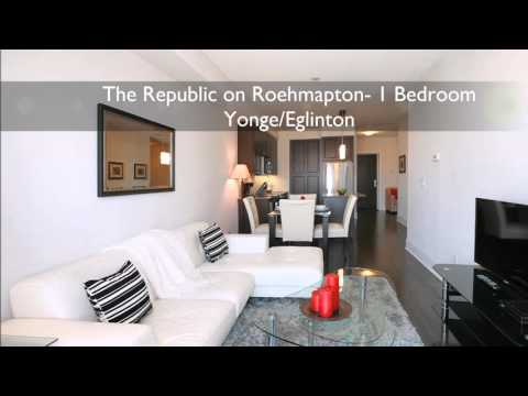 1 Bedroom Monthly Rental  - Toronto Midtown - The Republic on Roehampton - PremiereSuites.com
