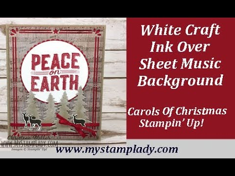 Carols Of Christmas With Sheet Music And Craft White Ink
