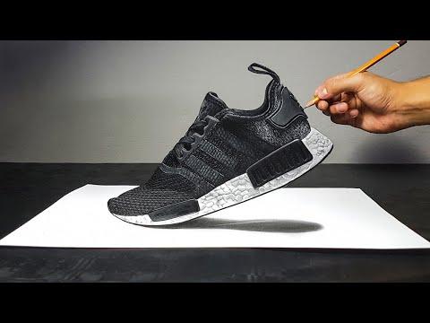 Disegno 3D di una scarpa Adidas NMD R1 - ART-CYO