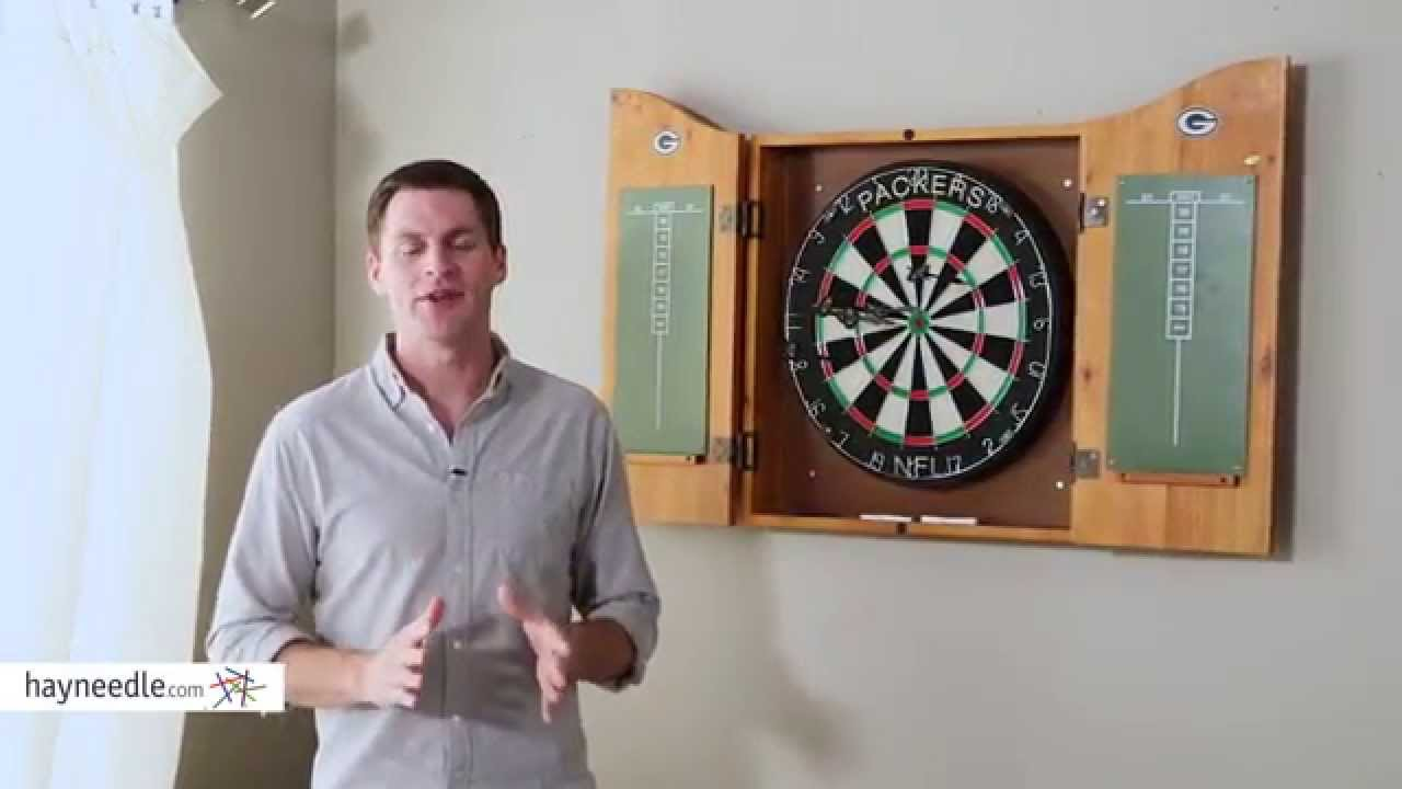NFL Bristle Dart Board With Cabinet   Product Review Video