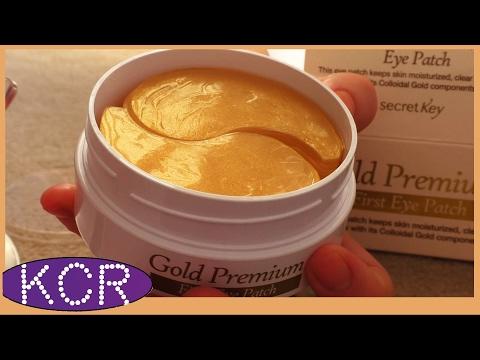 Гидрогелевые патчи с содержанием коллоидного ЗОЛОТА SECRET KEY Gold Premium First Eye Patch