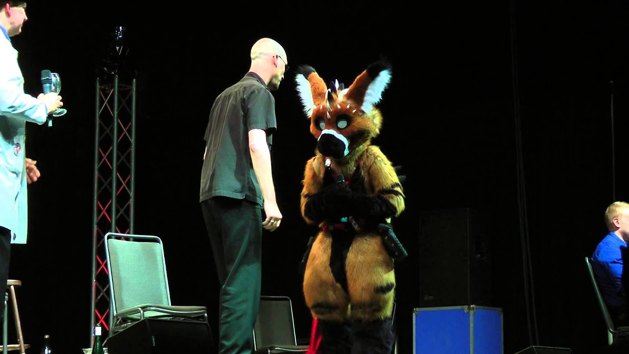 Telephone On Stage With 2 and Uncle Kage At Anthrocon 2013 - YouTube