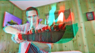 3D Video Extreme SCARY FIRE SWORD!!!