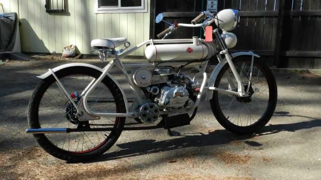 BigBoyCycles.com vintage motorized Bikes 4-stroke - YouTube