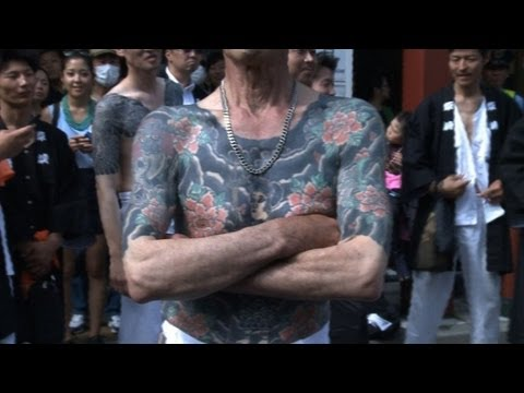 Japanese mafia tattoos paraded at festival