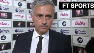 manchester united 3 1 afc bournemouth jose mourinho s post match interview