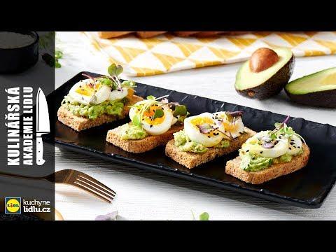 Zdravá snídaně - celozrnný chléb s avokádem a vejcem - Roman Paulus - Kulinářská Akademie Lidlu