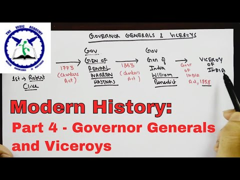 Modern History - Part 4 | Governor Generals and Viceroys | SSC CGL | by TVA