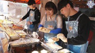 (Hermoso negocio familiar) Limpio y delicioso snack bar / comida callejera coreana / K-FOOD
